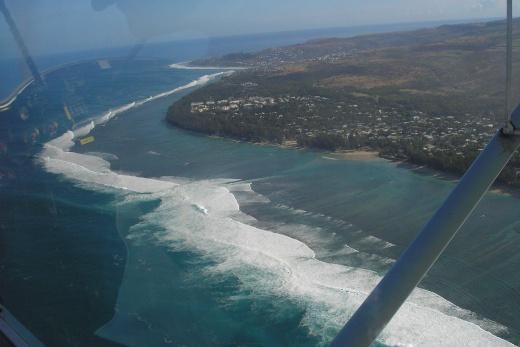 Reunion - výlet ultralightem pobřeží