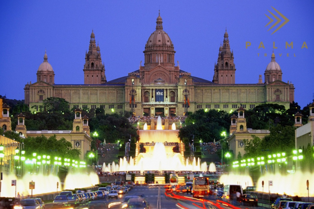 Barcelona - Facade of Palace of Montjuic