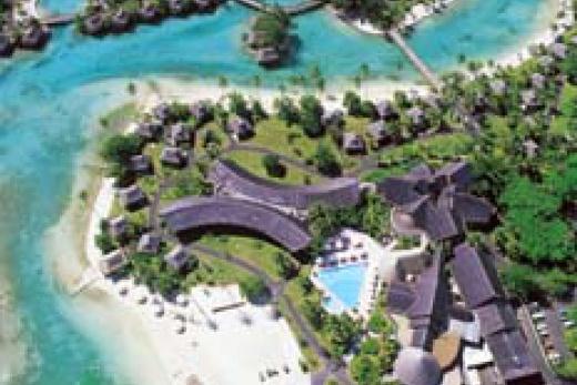Moorea - letecký pohled na hotel Sheraton