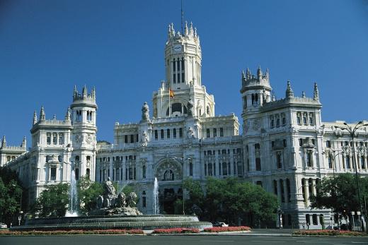 Madrid - Palacio De Com and Plaza Cildes
