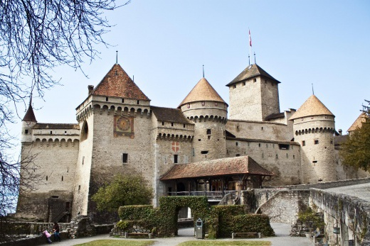 Ženevské jezero - Chillon hrad
