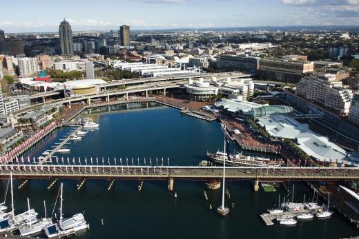 Austrálie Sydney přístav Darling