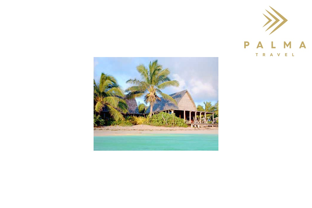 Fafa Island Resort pohled z moře