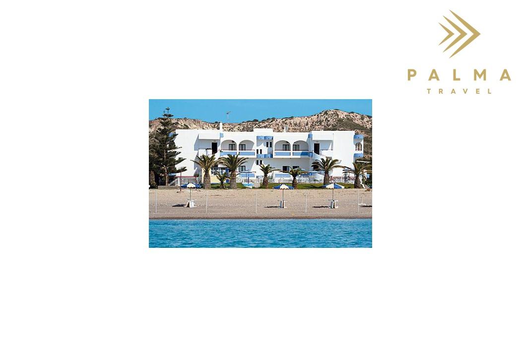 Hotel Kordistos stojí přímo u písečné pláže