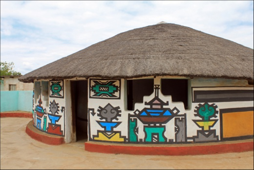 Vesnice kmenu Ndebele