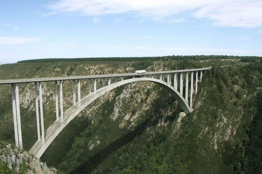 Bungeejumping z Bloukranského mostu