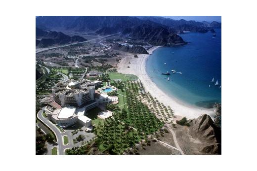 Al Bustan Palace foto z letadla