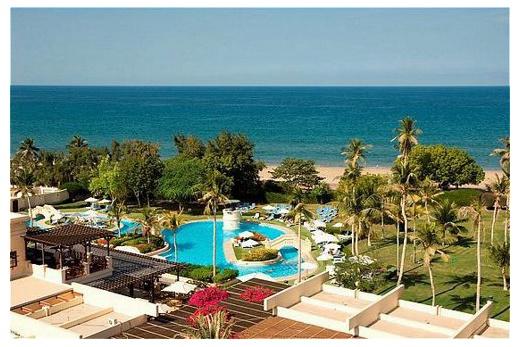 Muscat International pohled z hotelu